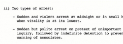 Two types of arrests