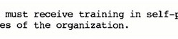 All agents were required to undergo defensive training