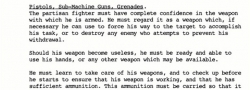 Extensive weapons training to be able to use not only American and British, but German weapons